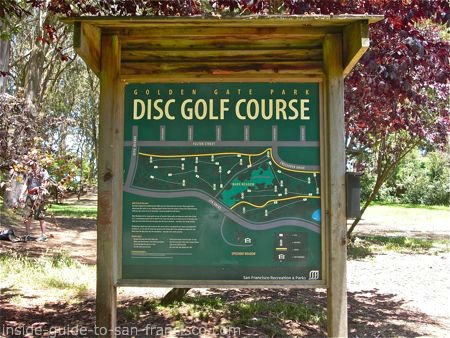 disc golf course sign, golden gate park, san francisco