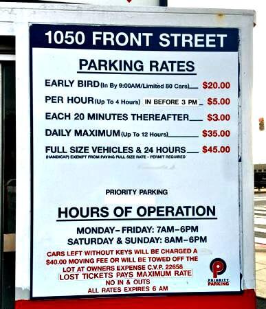 pier 15, embarcadero parking lot