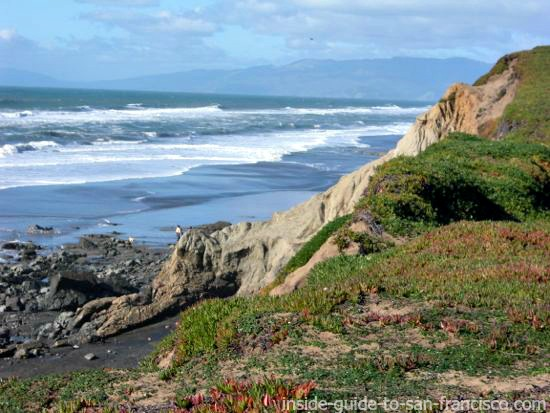 view of ocean, fort funston cliffs