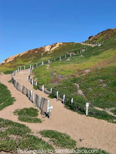 fort funston, path to beach