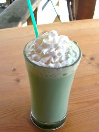 japanese tea garden menu, green tea latte