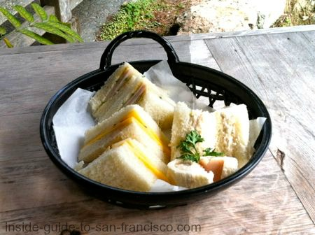 tea sandwiches, japanese tea garden menu
