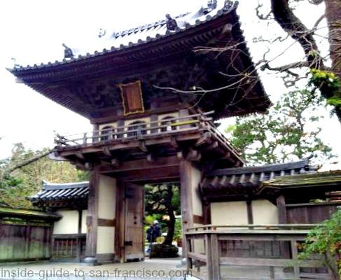 japanese tea garden, san francisco, entry gate