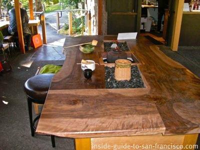 japanese tea garden, san francisco, tea ceremony table