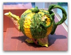 legion of honor san francisco, porcelain teapot, leafy vegetable