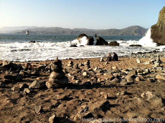 mile rock beach, lands end san francisco