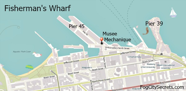Map of Musee Mechanique, Fisherman's Wharf