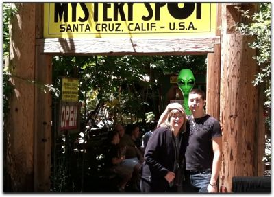 mystery spot santa cruz, entrance, aliens