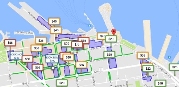 parkopedia parking app map