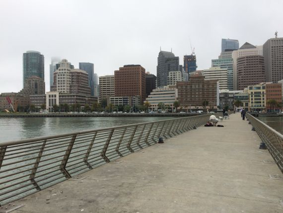 View of downtown San Francisco from Pier 14