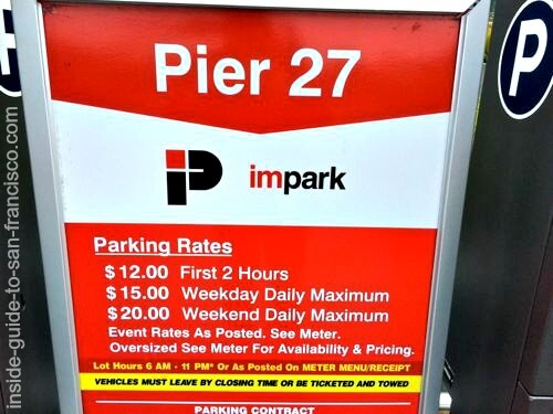 pier 27 parking lot fees