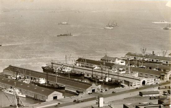piers 11 to 19, san francisco, 1934