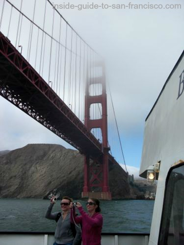 san francisco bay cruises, golden gate view, foggy