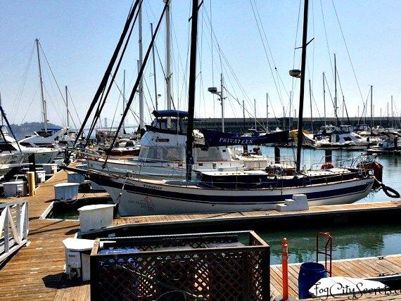 san francisco bay cruise, sailboat at the dock