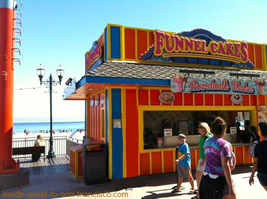 funnel cakes stand, santa cruz boardwalk