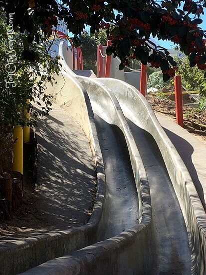 seward street slides, vertical drop