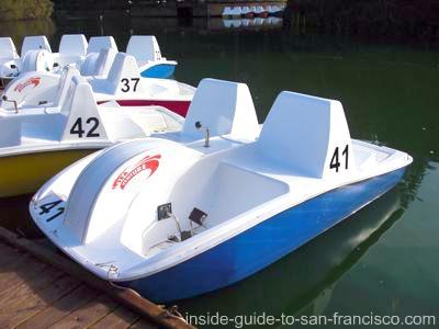 stow lake, new paddle boats