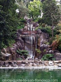 stow lake waterfall, golden gate park