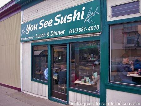 sushi san francisco, you see sushi