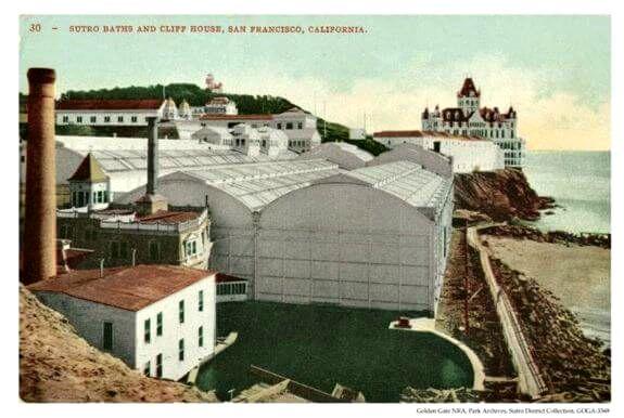 sutro baths vintage postcard