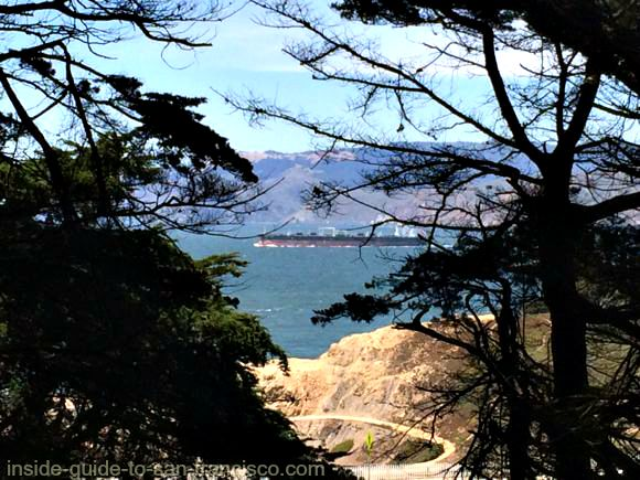 view of sf bay, sutro heights park, san francisco
