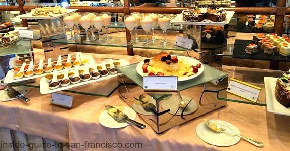 top of the mark brunch, dessert table