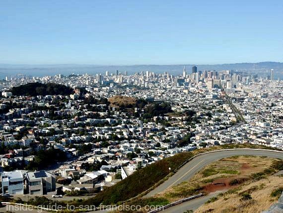 twin peaks san francisco, city view