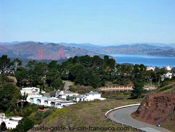 twin peaks san francisco, golden gate view