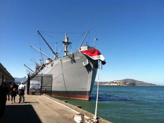 USS Jeremiah O'Brien at Pier 45 in San Francisco