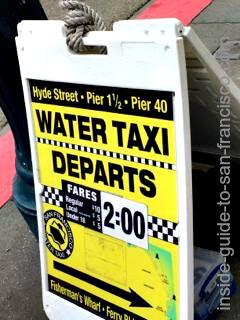 water taxi sign, san francisco embarcadero