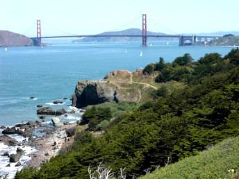 Lands End view of the Golden Gate Bridge