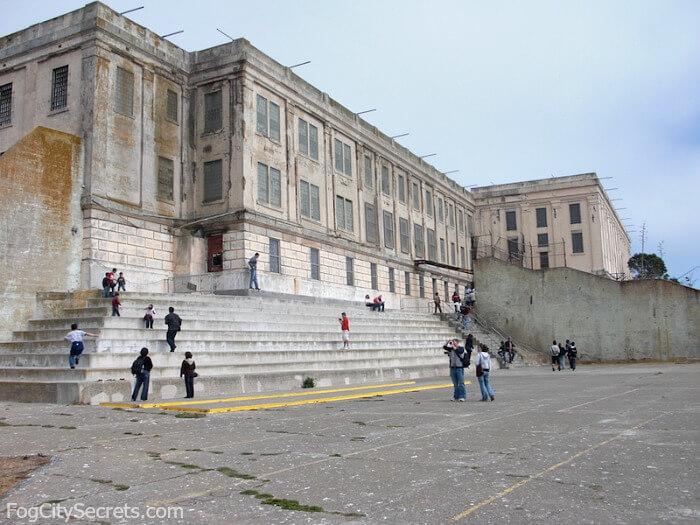 Alcatraz prison yard
