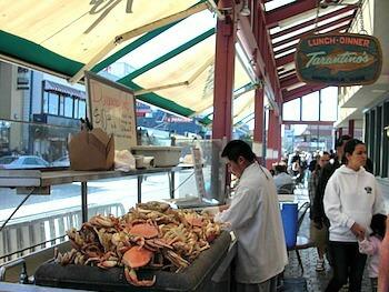 Crab stand at Fisherman's Wharf