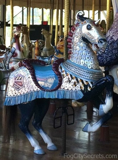 Armored horse on the Golden Gate Park carousel