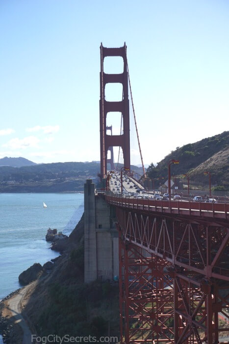 View of Golden Gate Bridge from Vista Point, Marin County