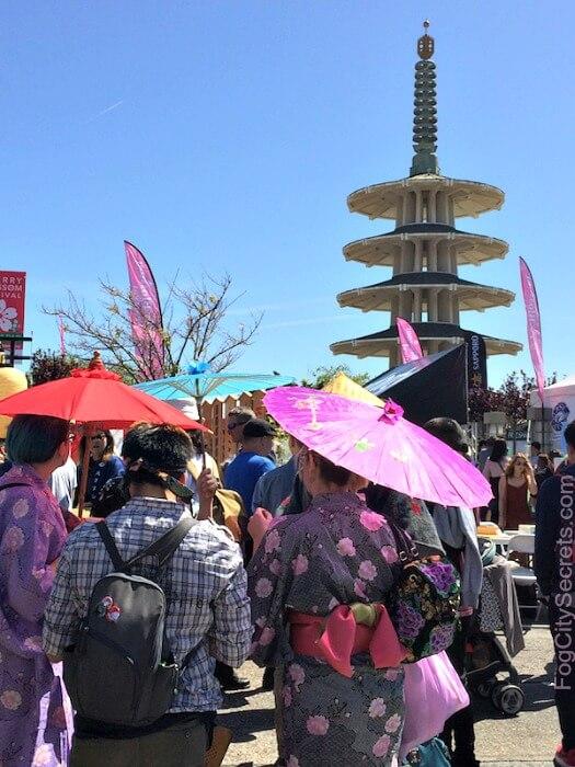 Kimonos and parasols at the San Francisco Cherry Blossom Festival