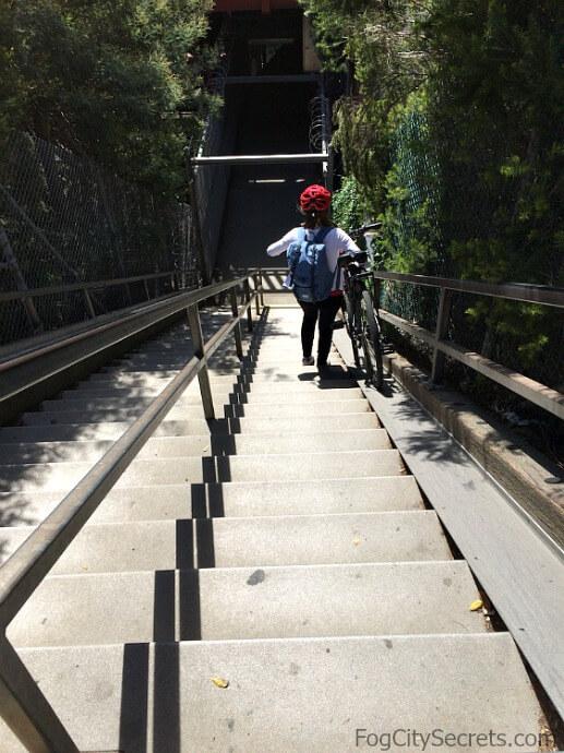 Stairway down to underpass at Vista Point, Golden Gate Bridge