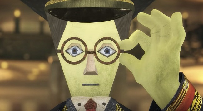 Conductor with glasses, scene from anime film, Mirai
