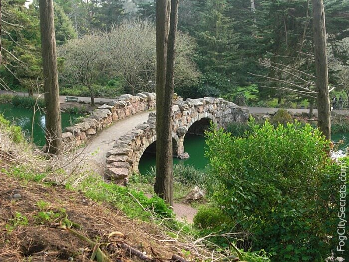 Stone bridge at Stow Lake, Golden Gate Park
