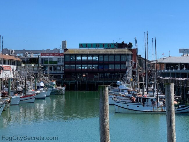 View of Alioto's restaurant from the Fisherman's Wharf marina