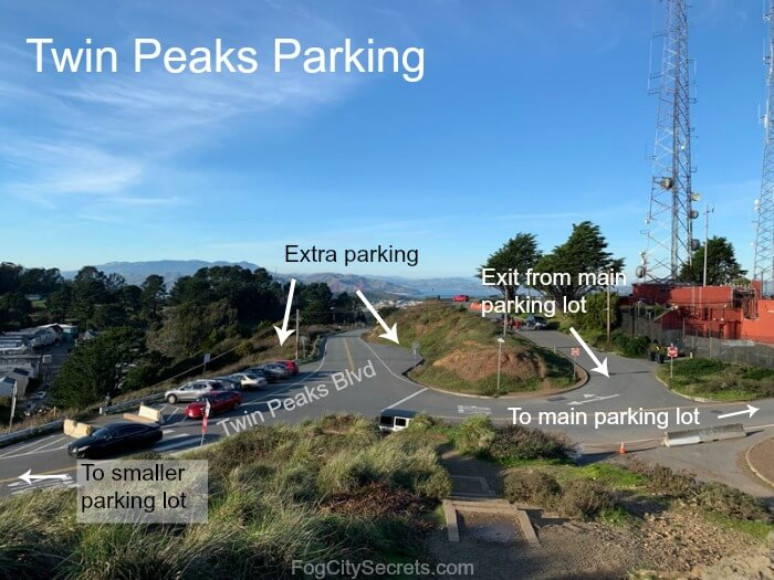 Image showing access to Twin Peaks SF parking areas