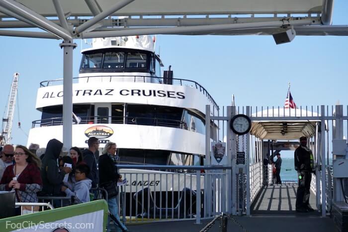 Boarding the Alcatraz Ferry at Pier 33