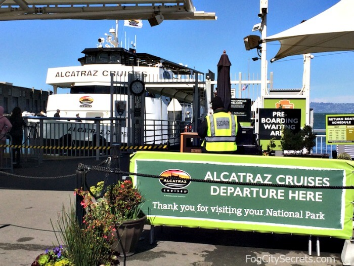Alcatraz ferry at pier 33, boarding area