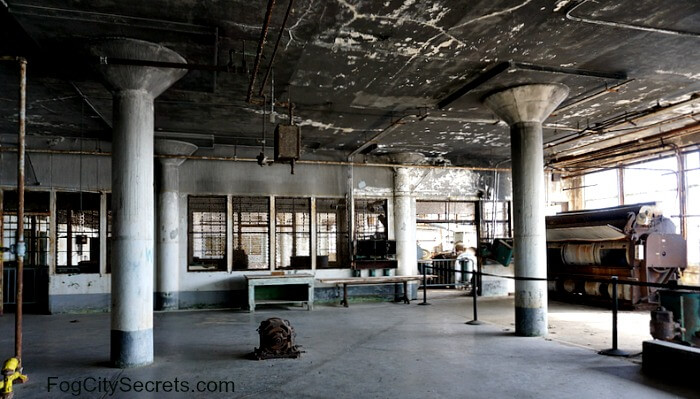 Interior of New Industries Building on Alcatraz