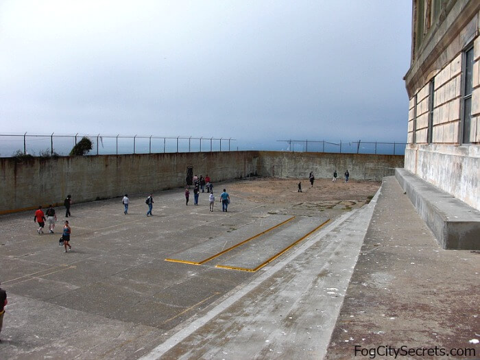 Exercise yard, Alcatraz prison tours