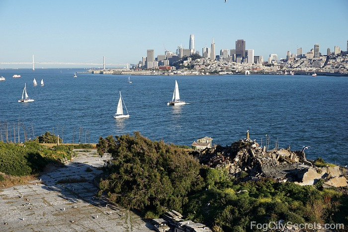 View of San Francisco skyline from Alcatraz Island