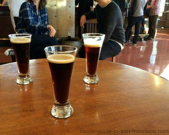 Tasting dark beers at the Anchor Steam Brewery