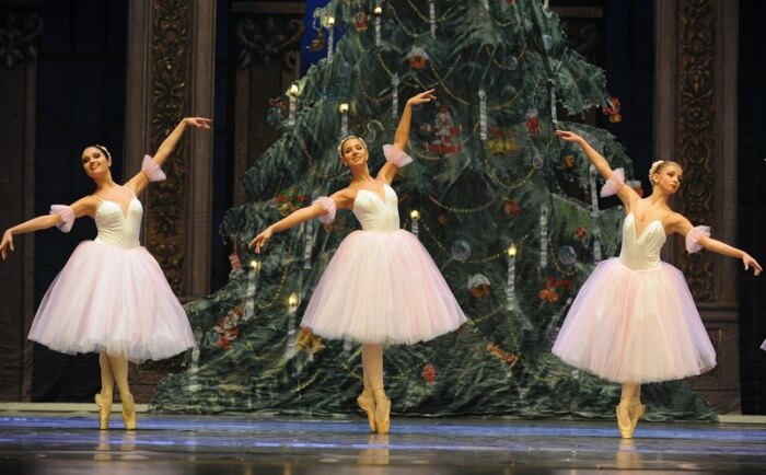 Dance of the Sugar Plum Fairies, Nutcracker Ballet, three ballerinas