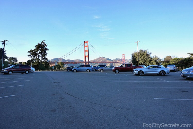 Battery East parking lot, Golden Gate Bridge