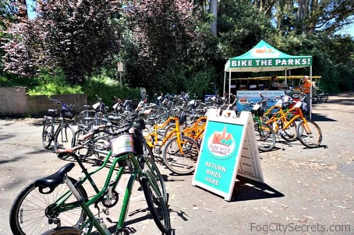 Bike rental kiosk, Golden Gate Park